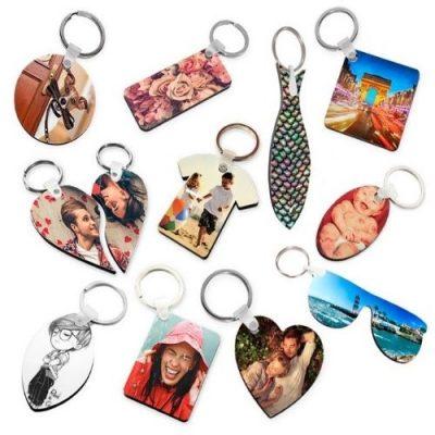 Sublimation Blanks - Keychains , MDF keyscains , Metal Keychains